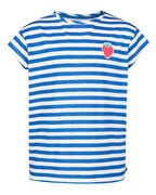 T-SHIRT STRIPED FILLE_T-SHIRT STRIPED FILLE, Bleu