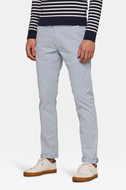 HEREN SLIM TAPERED CHINO Lichtblauw
