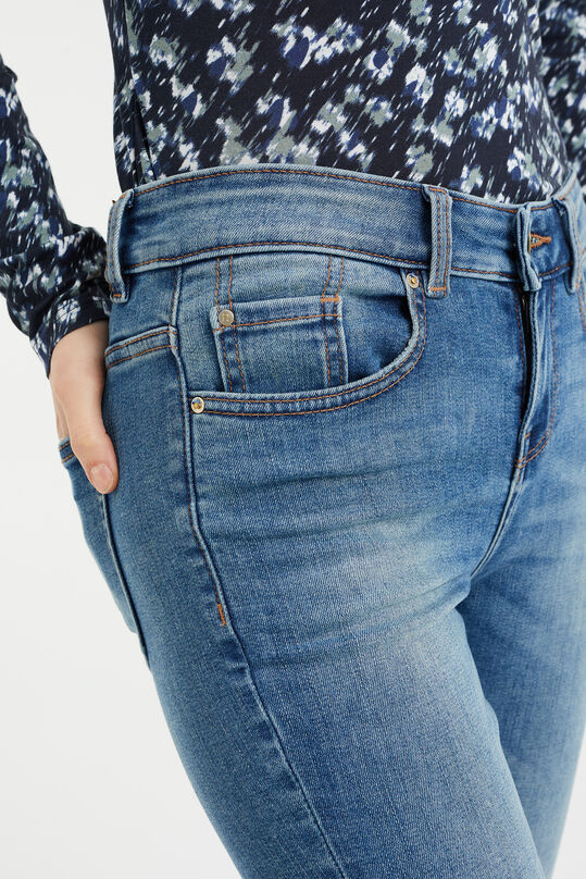 Dames mid rise super skinny jeans met super stretch Blauw