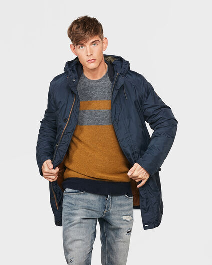 HEREN NAVY PARKA Marineblauw