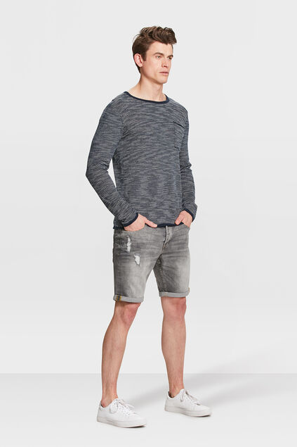 HEREN REGULAR FIT DENIM SHORT Grijs