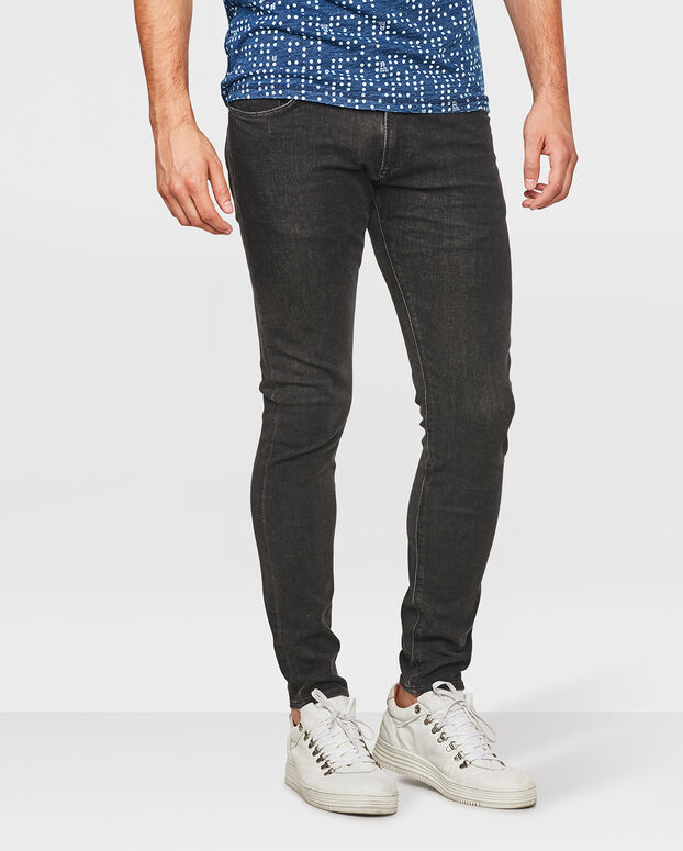 HEREN SUPER SKINNY TAPERED 360° STRETCH JEANS Zwart