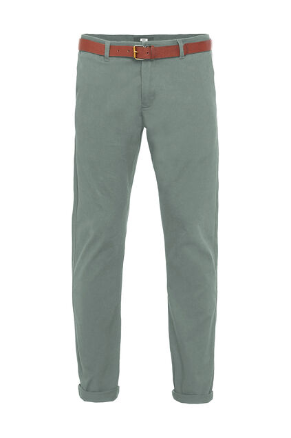 Pantalon chino skinny fit homme Vert mousse