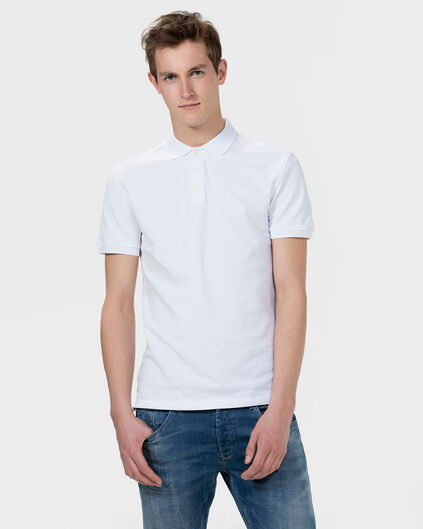 HEREN ORGANIC COTTON PIQUE POLOSHIRT Wit