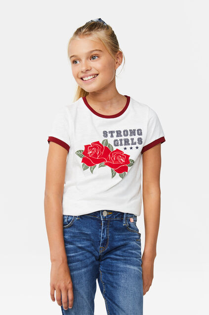 Meisjes embroidery T-shirt Wit