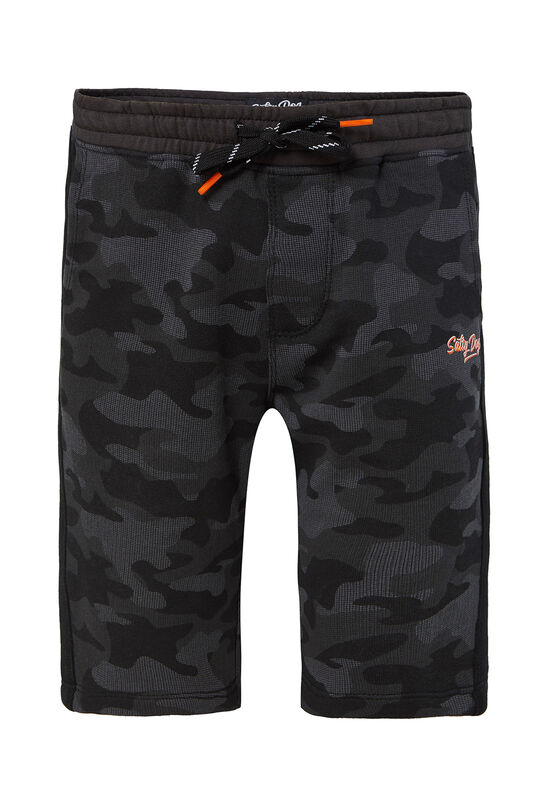 Jongens slim fit joggingshort met camouflagedessin All-over print