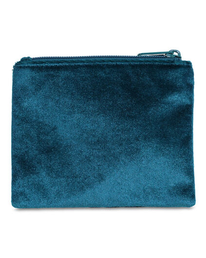 DAMES VELVET MAKE-UP TAS Turquoise