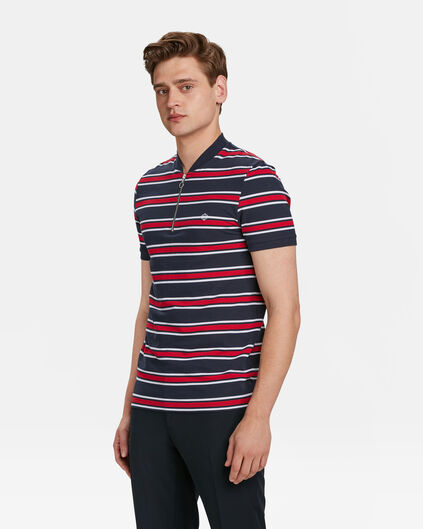 POLO SPORTY DETAIL STRIPE HOMME Bleu marine