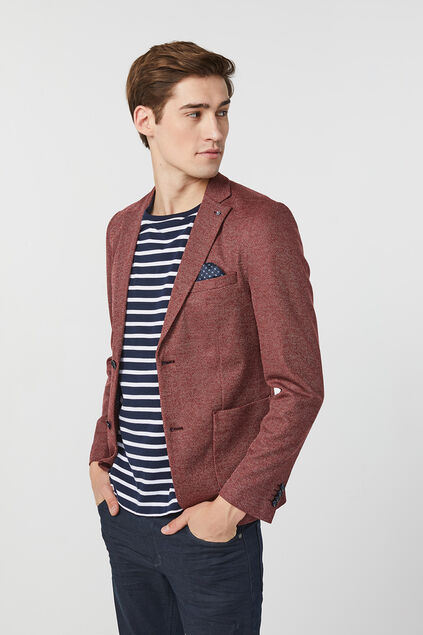 Heren Skinny fit blazer Bordeauxrood