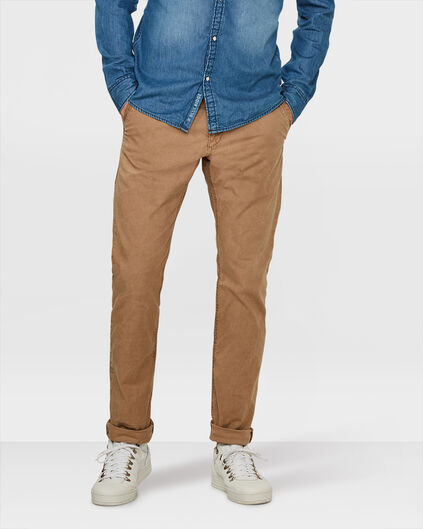 CHINO SLIM FIT CASUAL HOMME Cognac