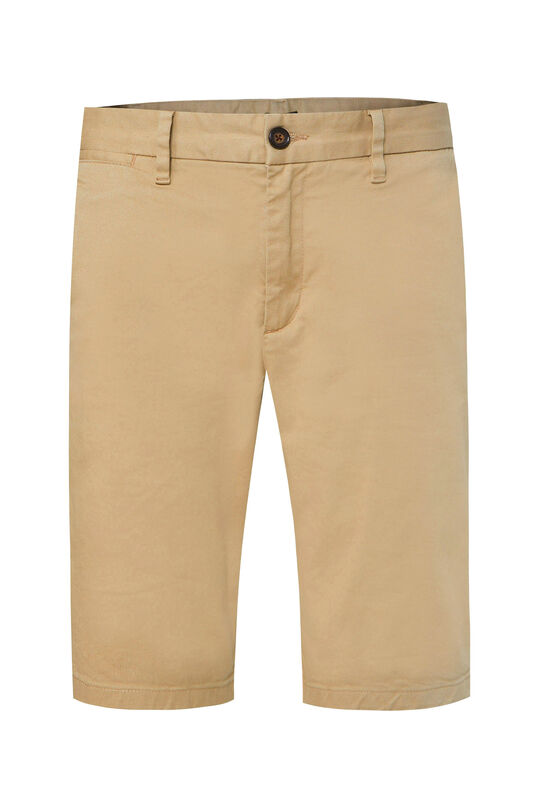 Heren tall fit chinoshort met stretch Beige