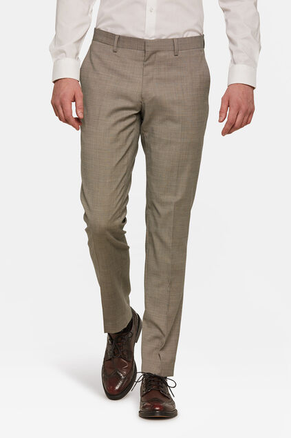 Heren slim fit  pantalon Jasper Beige