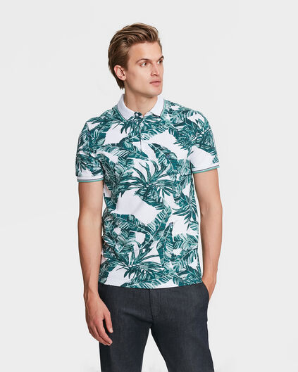 POLO PALM PRINT HOMME Vert menthe
