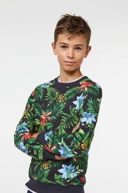 Sweat-shirt tropical garçon Multicolore