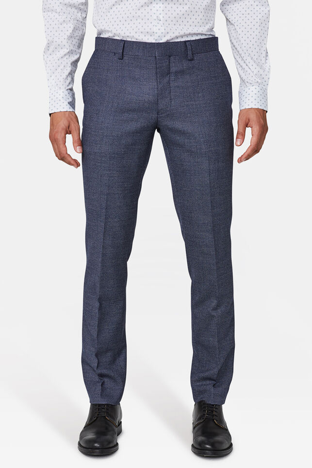 Heren slim fit pantalon Corvallis Blauw