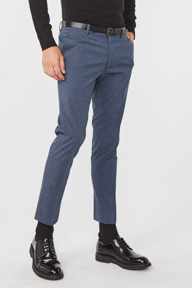 Heren skinny fit chino Marineblauw