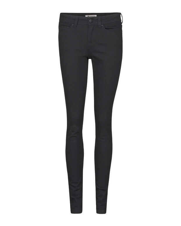 DAMES MEDIUM RISE SUPER SKINNY HIGH STRETCH JEANS Zwart