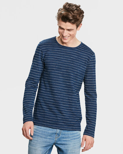 HEREN BLUE RIDGE INDIGO STRIPE SHIRT Donkerblauw