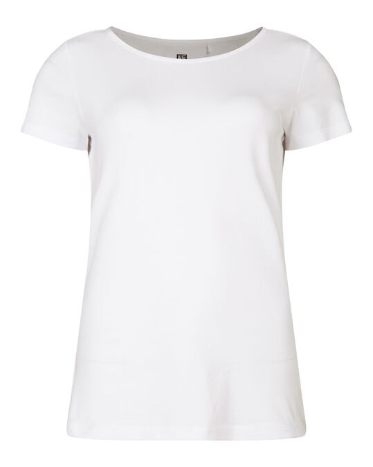 Dames organic cotton T-shirt Ecru