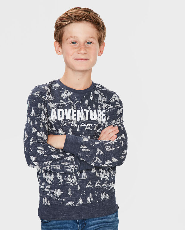 JONGENS ADVENTURE SWEATER Blauw