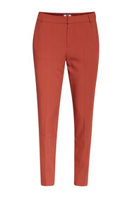 Dames slim tapered pantalon_Dames slim tapered pantalon, Bruin