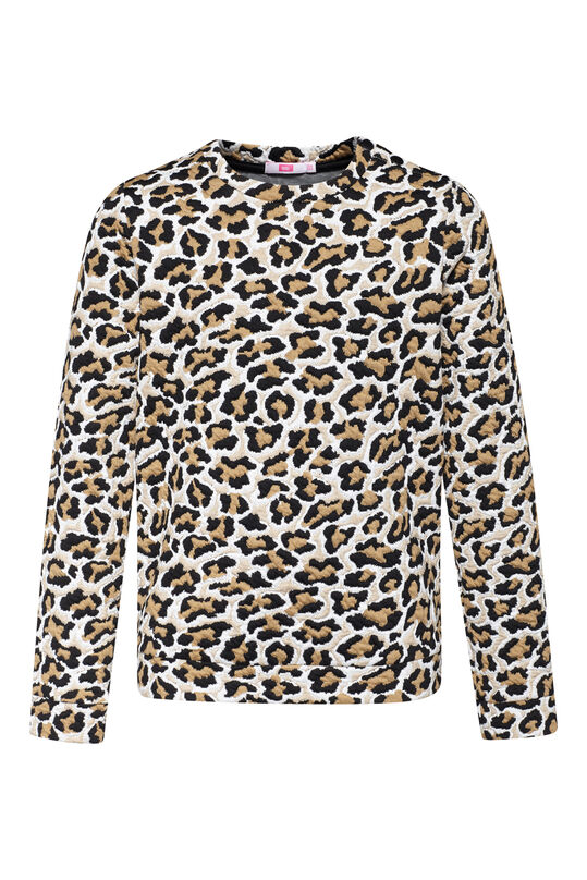Meisjes jacquard luipaarddessin sweater All-over print
