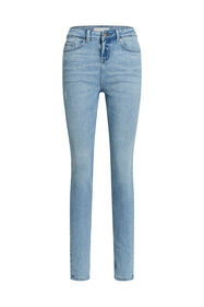 Jeans mid rise super skinny femme_Jeans mid rise super skinny femme, Bleu eclair