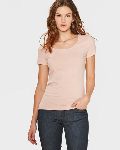T-SHIRT ORGANIC COTTON FEMME Rose clair