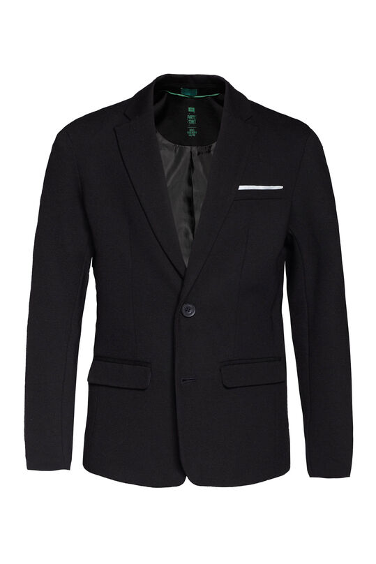 Jongens regular fit blazer Zwart