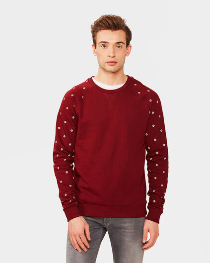 HEREN RAGLAN SLEEVE SWEATER Bordeauxrood