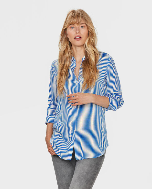 DAMES STRIPED PRINT BLOUSE All-over print