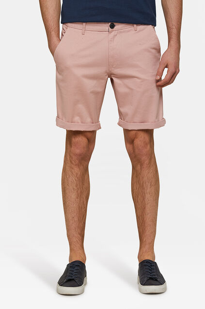 Bermuda regular fit chino homme Rose clair