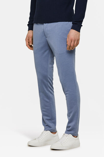 Heren slim fit pantalon Blauw