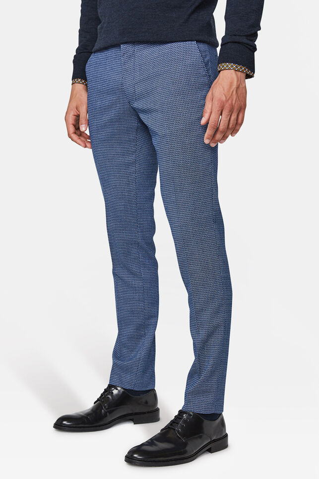 Heren Skinny fit pantalon Nigel Indigo