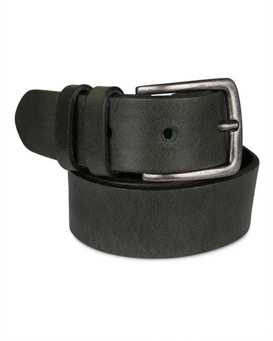 HEREN REAL LEATHER RIEM Legergroen