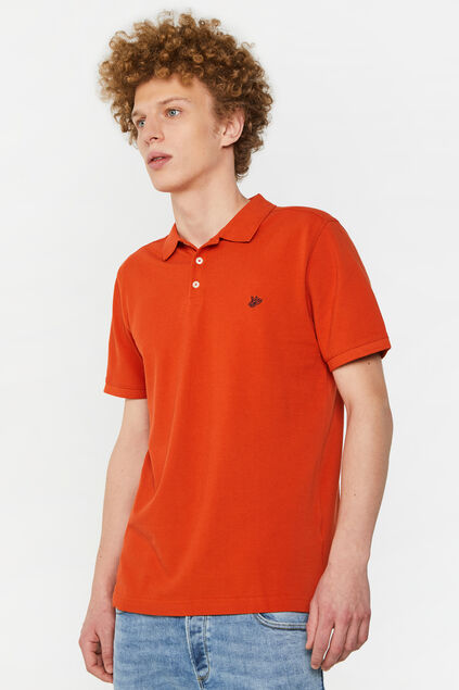 Polo 100% piqué de coton bio homme Orange