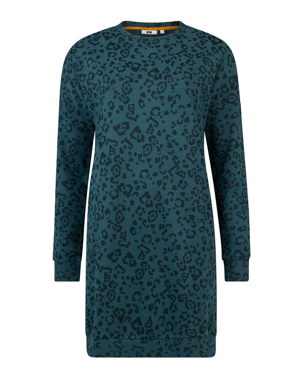 DAMES ANIMAL PRINT SWEAT-TUNIEK Mosgroen