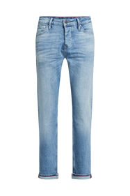 Heren athletic fit jeans met comfort stretch_Heren athletic fit jeans met comfort stretch, Blauw