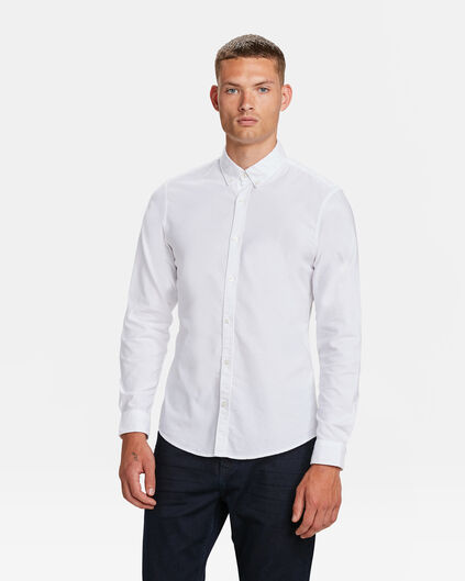 HEREN SLIM FIT OXFORD OVERHEMD Wit