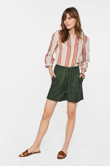 Dames high waist short van Lyocell Groen