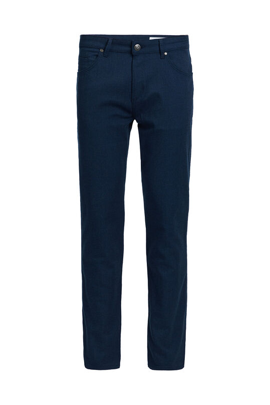 Heren slim fit 5-Pocket broek Blauw