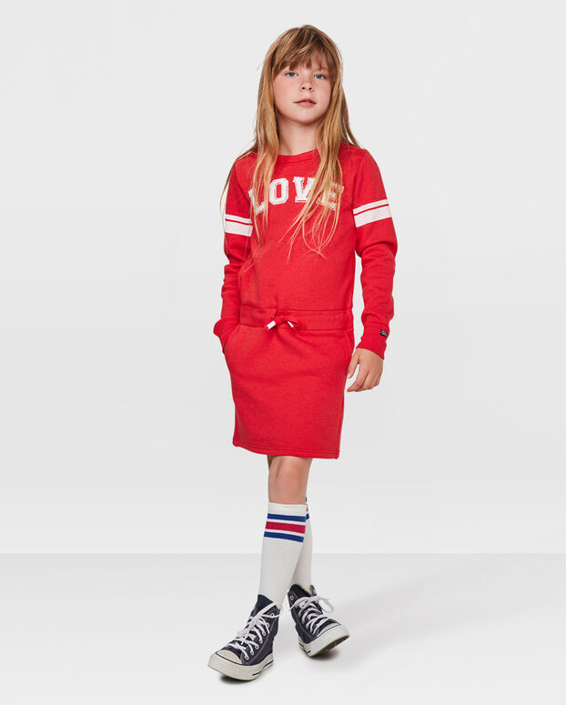 ROBE SWEAT LOVE FILLE Rouge