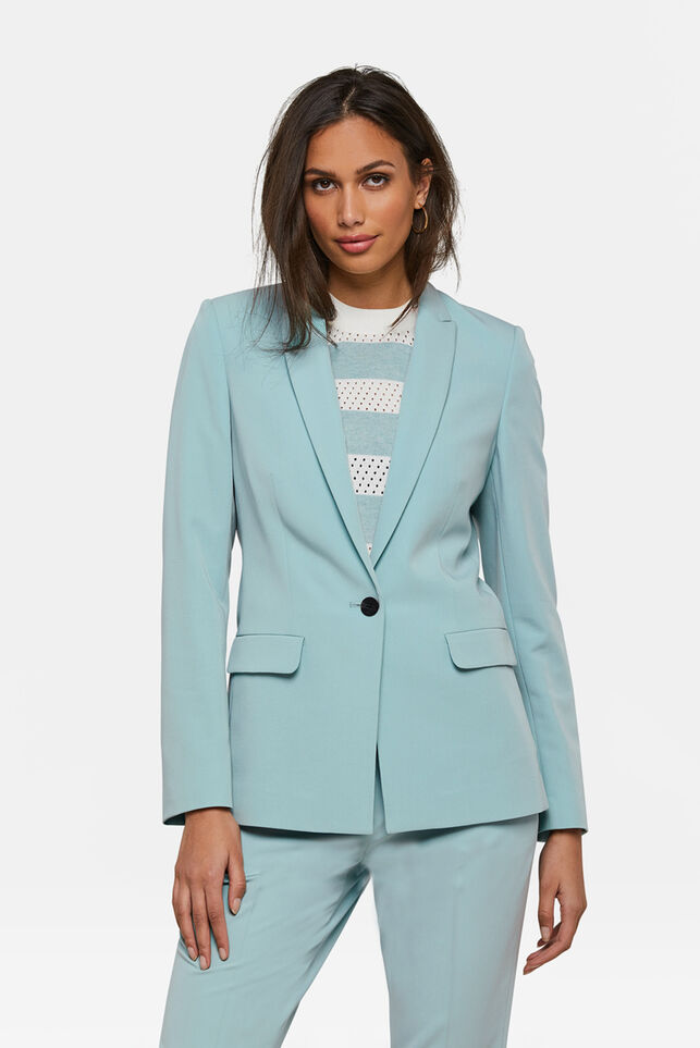 DAMES REGULAR FIT BLAZER Pastelblauw