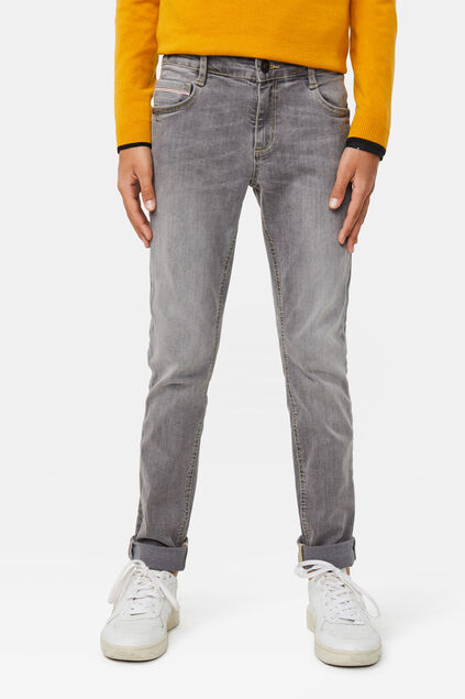 Jongens slim fit super stretch jeans Grijs
