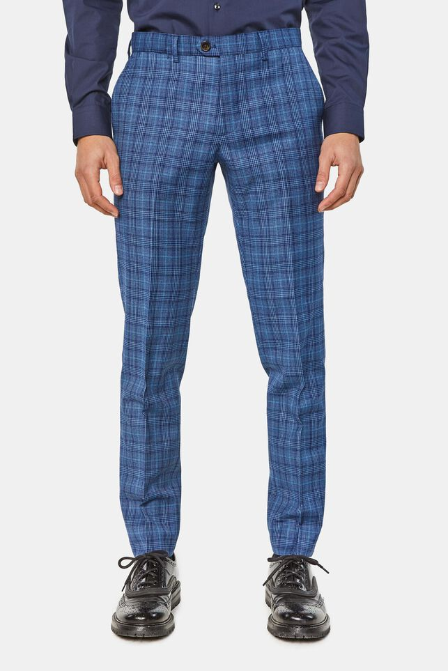 Heren regular fit geruit pantalon, Kelso All-over print