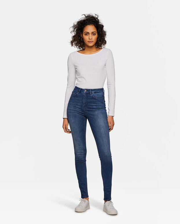 Dames High Rise Super Skinny Super Stretch jeans Blauw