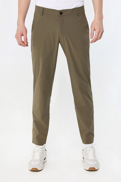 Heren lichtgewicht slim fit pantalon Tech Legergroen