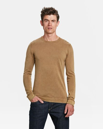 PULL RELAXED FIT STONE WASH HOMME Beige
