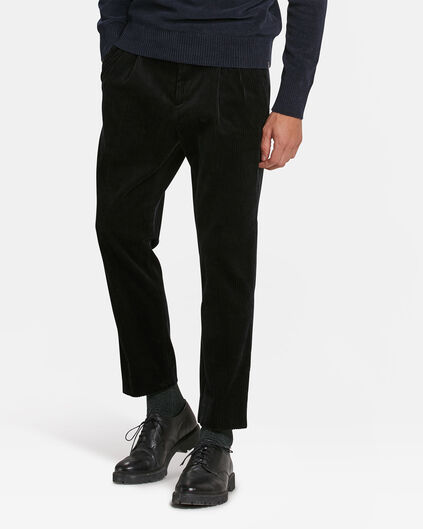 HEREN SLIM FIT CORDUROY PANTALON Marineblauw