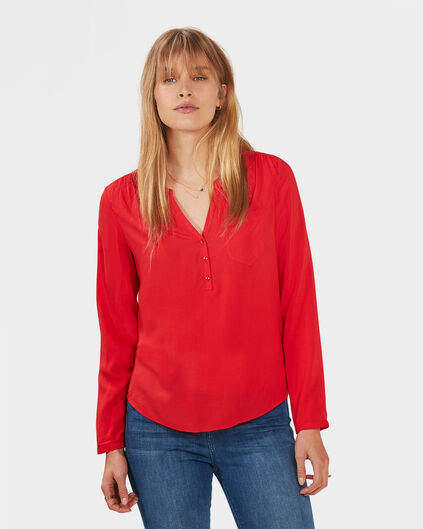 DAMES SINGLE PATCH POCKET BLOUSE Felrood